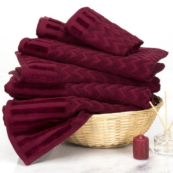 Chevron 6 Piece 100% Cotton Towel Set by Plymouth Home